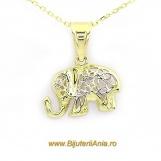 Bijuterii aur galben lant cu medalion colectie noua ELEFANTEL