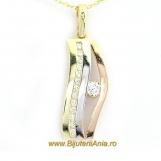 Bijuterii aur galben aur alb aur roz lant cu medalion colectie noua