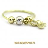Bijuterii aur galben inel colectie noua CHARM FLUTURAS
