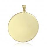 Bijuterii aur galben pandantiv colectie noua BANUT 2.6 CM