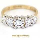 Bijuterii aur galben inel logodna colectie noua