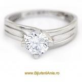 Bijuterii aur alb inel logodna colectie noua SOLITAIRE