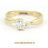 Bijuterii aur galben inele de logodna colectie noua SOLITAIRE R 14