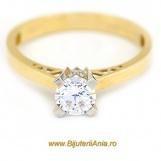 Bijuterii aur galben inel logodna colectie noua SOLITAIRE