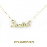 Bijuterii aur galben lanturi cu nume personalizate HANDMADE - IOANA