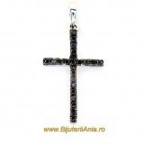 Bijuterii aur alb pandantiv cruce diamante colectie noua ITALIA
