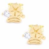 Bijuterii aur galben cercei colectie noua model TRIFOI