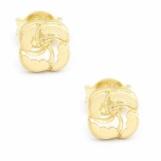 Bijuterii aur galben cercei colectie noua model GEOMETRIC