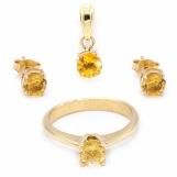 Bijuterii aur galben set colectie noua ITALIA CITRIN