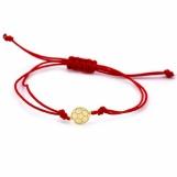 Bijuterii aur galben bratara snur rosu colectie noua GRECIA model MINGE