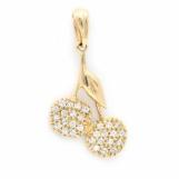 Bijuterii aur galben pandantiv colectie noua ITALIA model CIRESE