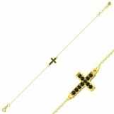 Bijuterii aur galben bratara mobila colectie noua model CRUCE - ONIX