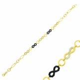 Bijuterii aur galben bratara mobila colectie noua model INFINITY - ONIX