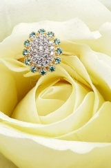 Bijuterii aur galben inel colectie noua GRECIA model FLOARE PARAIBA TOURMALINE