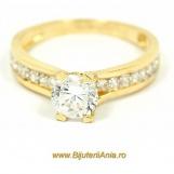 Bijuterii aur galben inele de logodna modele noi SOLITAIRE R 11