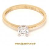 Bijuterii aur galben aur alb inele de logodna modele noi SOLITAIRE R14