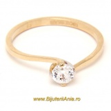 Bijuterii aur galben inele de logodna modele noi SOLITAIRE R 14