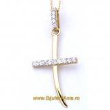 Bijuterii aur lant cu medalion colectii noi CRUCE