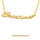 Bijuterii aur galben lanturi cu nume personalizate HANDMADE