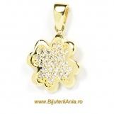 Bijuterii aur medalioane colectie noua TRIFOI cu PATRU FOI