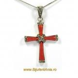 Bijuterii argint 925 lant cu medalion colectie noua CRUCE