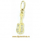 Bijuterii aur galben pandantiv colectie noua CHITARA