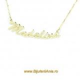 Bijuterii aur lanturi cu nume personalizate HANDMADE