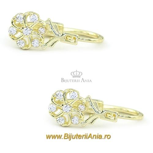 Bijuterii aur galben cercei nou nascuti colectie noua ITALIA