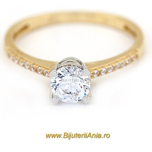 Bijuterii aur galben inele de logodna colectie noua R 13