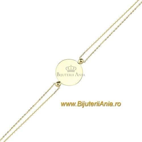 Bijuterii aur galben bratara mobila colectie noua BANUT 1.7 cm