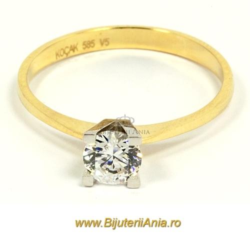 Bijuterii aur galben inele de logodna colectie noua R 14