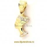 Bjuterii aur galben medalion colectie noua NEFERTITI - 2 cm