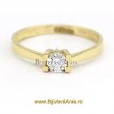 Bijuterii aur galben inel de logodna colectie noua SOLITAIRE R 9