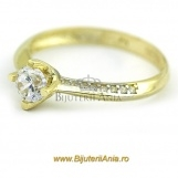 Bijuterii aur galben aur alb inel de logodna colectie noua SOLITAIRE