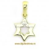 Bijuterii aur galben pandantive colectii noi Steaua lui David