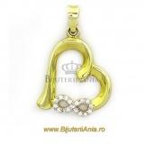 Bijuterii aur galben Medalion colectie noua Inimioara