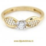 Bijuterii aur galben aur alb inel logodna colectie noua
