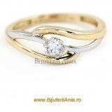 Bijuterii aur galben aur alb inel logodna colectie noua SOLITAIRE