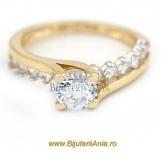 Bijuterii aur galben inele de logodna colectie noua SOLITAIRE R 9