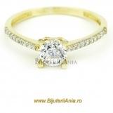 Bijuterii aur galben inele de logodna colectii noi SOLITAIRE R 11
