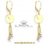 Bijuterii aur galben cercei colectie noua model BANUTI