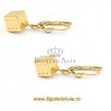 Bijuterii aur galben cercei colectie noua model ZAR