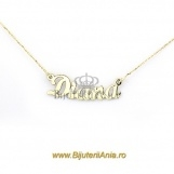 Bijuterii aur galben lanturi cu nume personalizate HANDMADE - DIANA