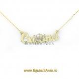 Bijuterii aur galben lanturi cu nume personalizate HANDMADE - CRISTINA