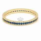 Bijuterii aur galben inel colectie noua model ETERNITY - SAFIR R 10
