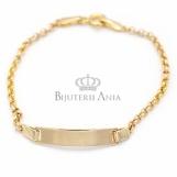 Bijuterii aur copii - bratara cu placuta colectie noua