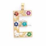 Bijuterii aur galben pandantive colectie noua litera E