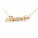 Bijuterii aur galben lant cu nume personalizate HANDMADE - ALEXANDRA