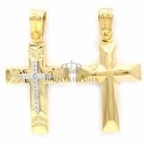 Bijuterii aur galben pandantiv colectie noua GRECIA - CRUCE