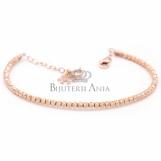 Bijuterii aur roz bratara semimobia colectie noua model BILUTE
